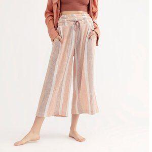 Free People Hamilton Wide Leg Palazzo Pants Pink L